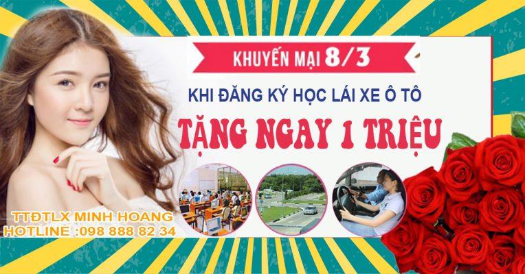 KHUYEN MAI HOC LAI XE O TO NGAY 8 THANG 3